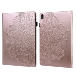 For Lenovo E10 Peacock Embossed Pattern TPU + PU Horizontal Flip Leather Case with Holder & Card Slots & Wallet & Sleep / Wake-up Function(Rose Gold)