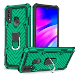 For Xiaomi Redmi 7 Magnetic Armor Shockproof TPU + PC Case with Metal Ring Holder(Dark Green)