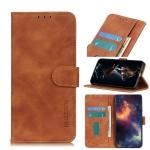 For Motorola Moto G Stylus 2021 KHAZNEH Retro Texture PU + TPU Horizontal Flip Leather Case with Holder & Card Slots & Wallet(Brown)