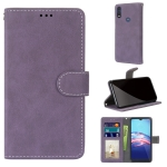 For Motorola Moto E (2020) Retro Frosted Horizontal Flip PU Leather Case with Holder & Card Slots & Wallet & Photo Frame(Purple)