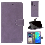 For Motorola Moto G Power(2020) Retro Frosted Horizontal Flip PU Leather Case with Holder & Card Slots & Wallet & Photo Frame(Purple)