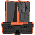 For Nokia 2.4 Tire Texture Shockproof TPU+PC Protective Case with Holder(Orange)