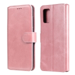 For Samsung Galaxy A02s (EU Version) Classic Calf Texture PU + TPU Horizontal Flip Leather Case with Holder & Card Slots & Wallet(Rose Gold)