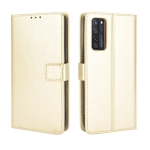 For ZTE Axon 20 5G / Axon 20 4G Retro Crazy Horse Texture Horizontal Flip Leather Case with Holder & Card Slots & Lanyard(Gold)