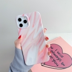 Marble Pattern TPU Protective Case For iPhone 12 / 12 Pro(Light Red)