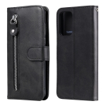 For Samsung Galaxy A72 5G Fashion Calf Texture Zipper Horizontal Flip Leather Case with Stand & Card Slots & Wallet Function(Black)