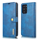 For Samsung Galaxy Note20 Ultra DG.MING Crazy Horse Texture Flip Detachable Magnetic Leather Case with Holder & Card Slots & Wallet (Blue)