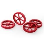 Creality Metal Red Hand Screwed Leveling Nut for Ender-3 / Ender-3 Pro / Ender-3 V2 / CR-10 Pro V2 3D Printer (Red)
