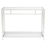 [US Warehouse] FCH Toughened Glass Panel Console Table, Size: 102×30.5x76cm