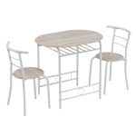 [US Warehouse] Baking Lacquer Couples Bending Back Breakfast Table, Size: 80x53x76cm