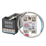 REX-C100 Thermostat + Thermocouple + SSR-80 DA Solid State Module Intelligent Temperature Control Kit
