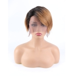 Toocci Women Short Pixie Cut Brazilian Human Hair Wig, Length: 8 inch