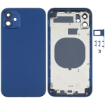 Back Housing Cover with Appearance Imitation of iPhone 12 for iPhone 11(Blue)