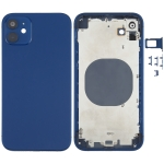 Back Housing Cover with Appearance Imitation of iPhone 12 for iPhone XR(Blue)