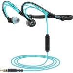 Mucro ML233 Foldable Wired Running Sports Headphones Night Neckband in-Ear Stereo Earphones(Blue)