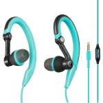 Mucro MB-232 Running In-Ear Sport Earbuds Earhook Wired Stereo Headphones for Jogging Gym(Blue)