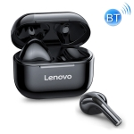 Original Lenovo LivePods LP40 TWS IPX4 Waterproof Bluetooth Earphone with Charging Box, Support Touch & HD Call & Siri & Master-slave Switching (Black)