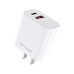 ROCK T43 20W PD USB-C / Type-C + USB Dual Port Travel Charger, CN Plug