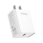 ROCK T12 Pro 20W PD USB-C / Type-C Single Port Travel Charger, CN Plug
