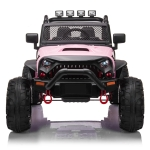 [US Warehouse] 12V Kids Ride On Car 2.4GHz Remote Control Double Drive Jeep Vehicle with MP3 & LED Lights(Pink)