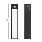 20cm Original Xiaomi YEELIGHT LED Smart Human Motion Sensor Light Bar Rechargeable Wardrobe Cabinet Corridor Wall Lamps (Black)