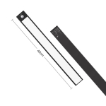 40cm Original Xiaomi YEELIGHT LED Smart Human Motion Sensor Light Bar Rechargeable Wardrobe Cabinet Corridor Wall Lamps (Black)