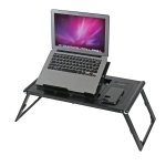 LD99-3 Height Adjustable Foldable Laptop Desk Smart Table with Wireless Charger (Black)