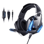 ONIKUMA K18 Cool Light Wired Gaming Headphone for PS4, Computer (Black Blue)