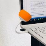 Original Xiaomi Youpin Velev M83 Lollipop Shape PC Computer Laptop Mini Audio Speaker Amplifier Lounspeaker (Orange)