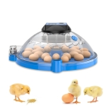 Egg Incubator Small Round Automatic Home Intelligent Chicken Tool Double Electric Hatcher Specification: 16 PCS Fully Automatic