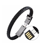XJ-26 2.4A USB to Micro USB Creative Bracelet Data Cable, Cable Length: 22.5cm