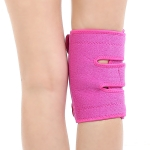 Sports Non-Slip Knee Pads Men And Women Breathable Compression Shock Absorber, Specification: Left Leg (Rose Red)