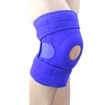 Sports Non-Slip Knee Pads Men And Women Breathable Compression Shock Absorber, Specification: Right Leg (Blue)