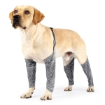 Dog Outdoor Four-Legged Pants Pet Waterproof & Dirt-Proof Sling Leg Cover, Size: L(Gray)