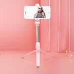 XT10 Bluetooth Tripod Selfie Stick Live Mobile Phone Holder(Pink)