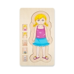 Onshine Five-Layer Human Body Structure Puzzle Wooden Puzzles For Children Physical Cognition(Girl)