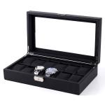 Woven Pattern PU Leather Watch Box Jewelry Storage Display Box, Colour: 12 Bits