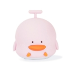LJC-114 Cartoon Duck Voice Silicone Night Light USB Portable Children Bedroom Pat Light(Pink )
