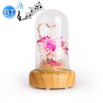 Wishing Bottle LED Night Light Immortal Flower Bluetooth Speaker Desk Lamp, Style: Pink Flower