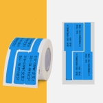 Network Cable Knife Type T-Type Double-Row Cable Thermal Paper Label Printing Paper For NIIMBOT B3(Blue)