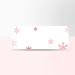 Thermal Label Paper Cosmetic Sticker Bottled Name Sticker For NIIMBOT D11 Printer, Size: Snow Red