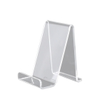 QH-018 10 PCS Acrylic Transparent Mobile Phone Display Stand(Transparent)