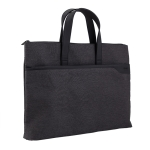 Deli 63750 Office Portable Zipper Document Bag Double-Layer Conference Information Bag(Gray)