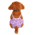 Menstrual Physiological Pants For Pet Dog Polka Dot Skirt And Bib Physiological Pants, Size: M(Purple)