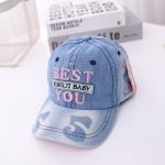 MZ9514 Embroidered Letters Cowboy Children Baseball Cap, Size: 52cm Adjustable(Pink Letters)