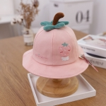 C0371 Cartoon Fruit Pattern Baby Pot Hat Fisherman Hat, Size: Around 48cm(Skin Pink)
