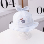 MZ9828 Star Grass Pattern Newborn Basin Hat Baby Cotton Hat Fisherman Hat, Size: Around 42cm(Light Blue)