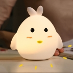 Cartoon Chick Silicone LED Night Light Bedroom USB Colorful Pat Light