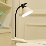 1003 LED Eye Protection Bedside Dormitory Clip Desk Lamp Bedroom Touch Foldable Reading Desk Lamp(White)