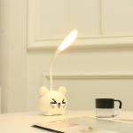 1835A-2 Cat Bedroom Study LED Small Table Lamp Adjustable Eye Protection Night Light(White)